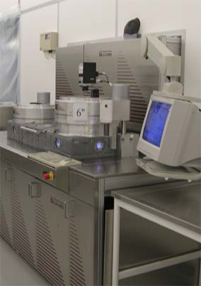 Picture of ICP-RIE (Si-DRIE / aluminum etch)